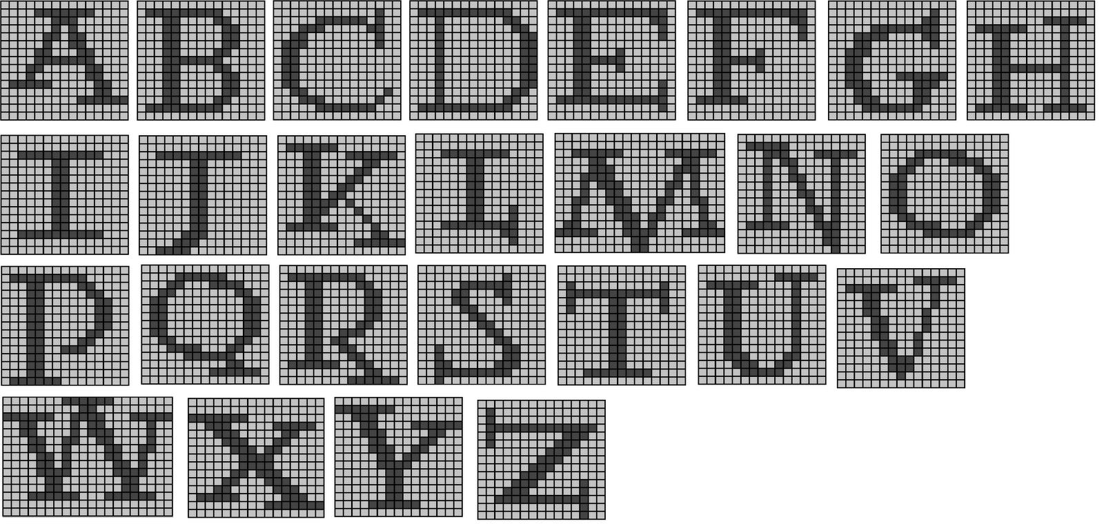 The Wandering Interrobang: Nerdy Knits: Potter Alphabet ...