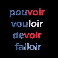 les verbes pouvoir vouloir devoir falloir, conjugaison, FLE, le FLE en un 'clic'