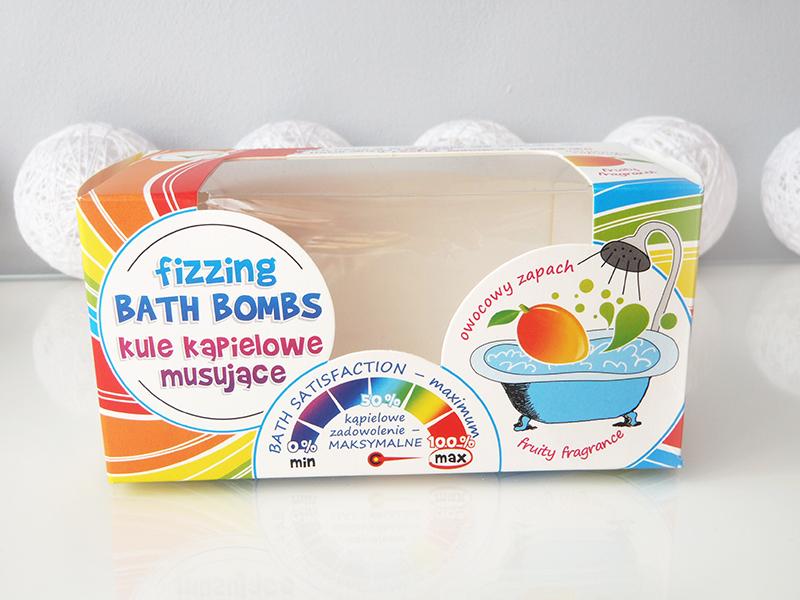 kule do kąpieli, fizzing bath bombs, musujące kule mango, kule z biedronki