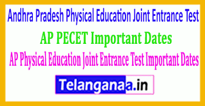 Andhra Pradesh Physical Education Joint Entrance Test 2019 Important Dates