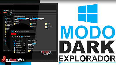 activar modo oscuro explorador archivos