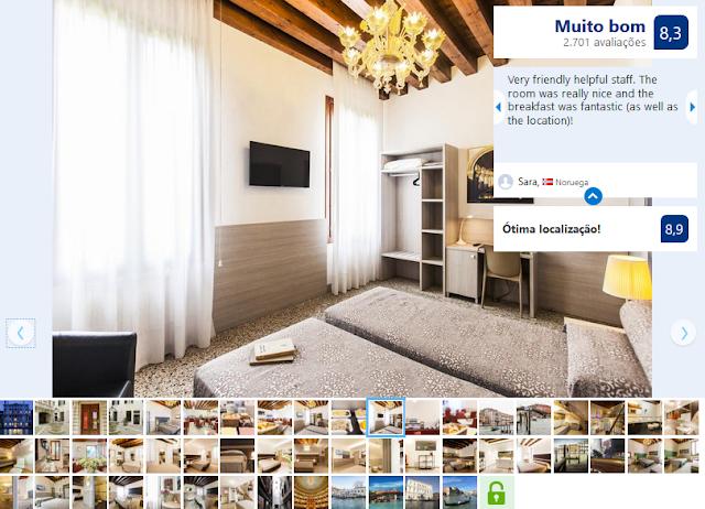 Hotel Foresteria Levi para ficar em Veneza