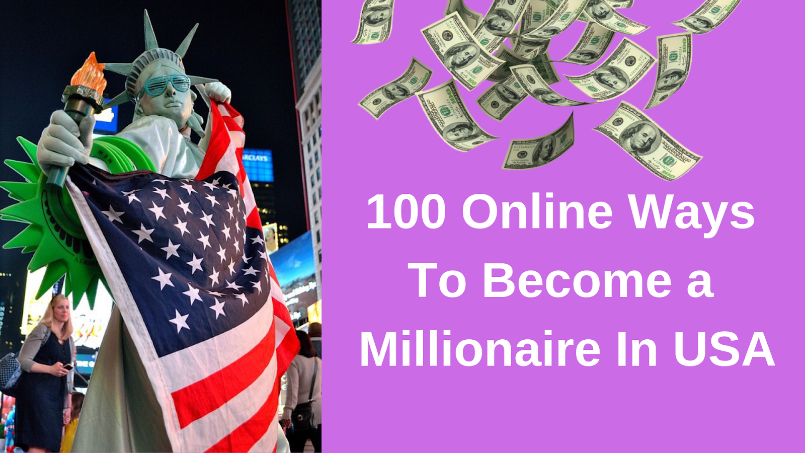 100 Online Ways To Become A Millionaire In Usa