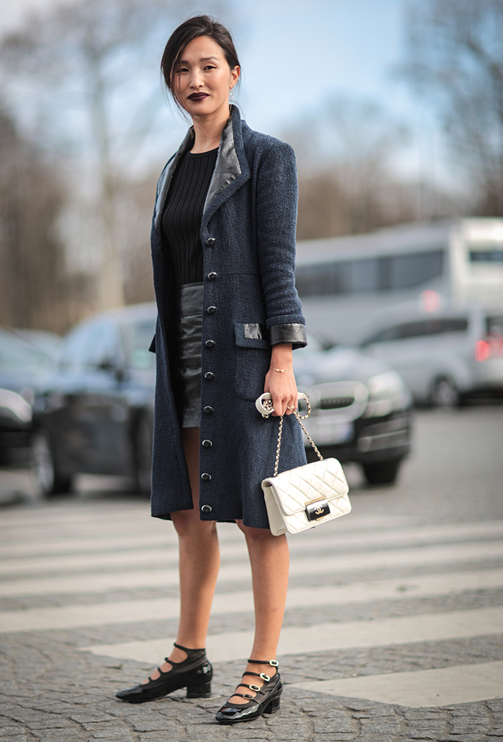 Nicole Warne Paris Fashion Week Street Style - stylecaster