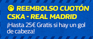 william hill promocion CSKA vs Real Madrid 2 octubre