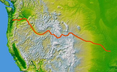 nasa topo Oregon trail