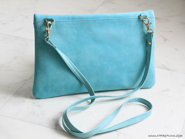 My Summer 2013 bag: Fab. Beatrix clutch - aqua long strap