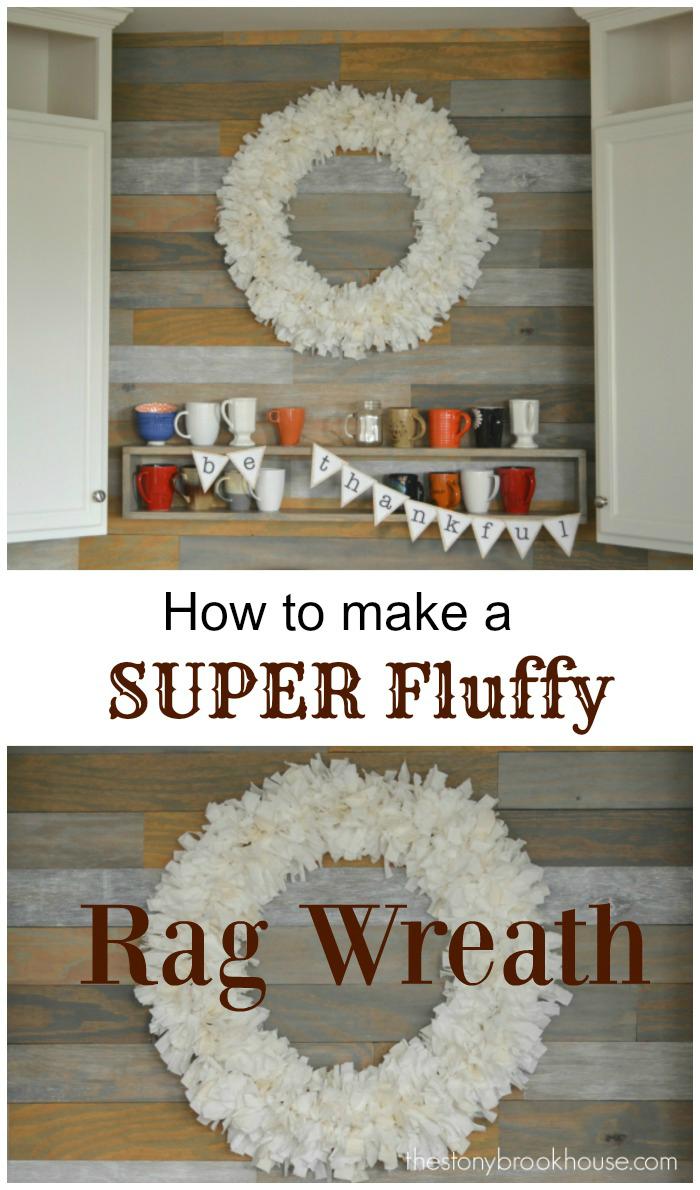 How To Make A Super Fluffy Rag Wreath