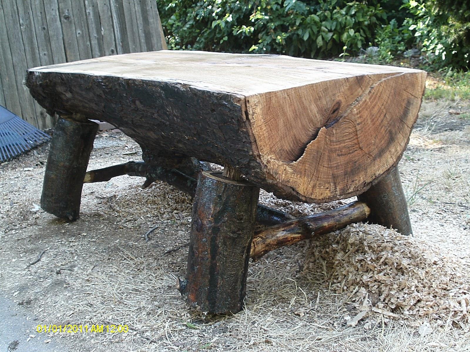 handmade rustic log furniture big fatty bench rh handmadelogfurniture blogspot com Rustic Log Furniture Oak Wood Furniture