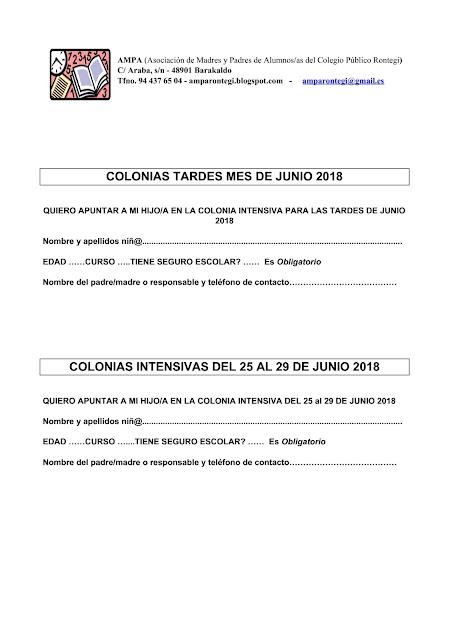 colonias 2018