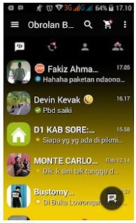 BBM Mod Dark Yellow V2.13.1.14 Apk Terbaru