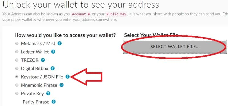 cargar monedero My Ether Wallet Status SNT