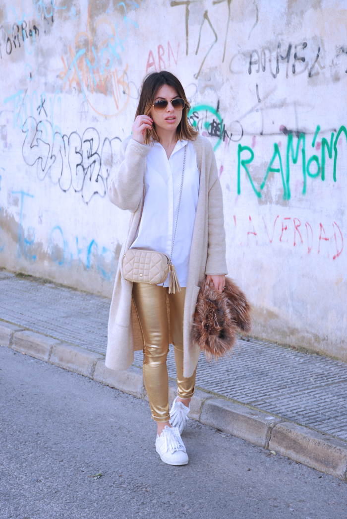 gold-pants-and-white-shirt
