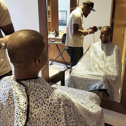 3 Photos: Tunde Demuren, Toolz bridesmaids all preparing for the white wedding holding today