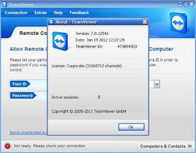 teamviewer license key registry