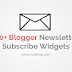 20+ Blogger Newsletter Email Subscription Widgets