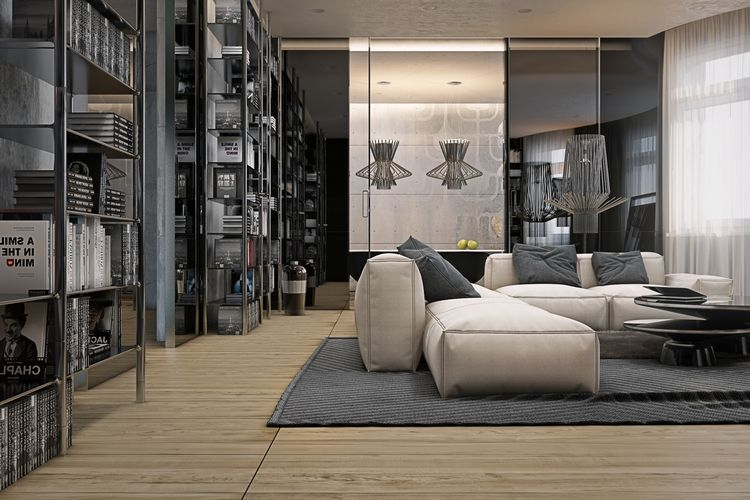 Kiev Apartment Living Room By Yodezeen