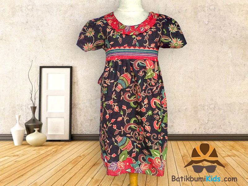 Dress Batik Anak Motif Gentong Hitam