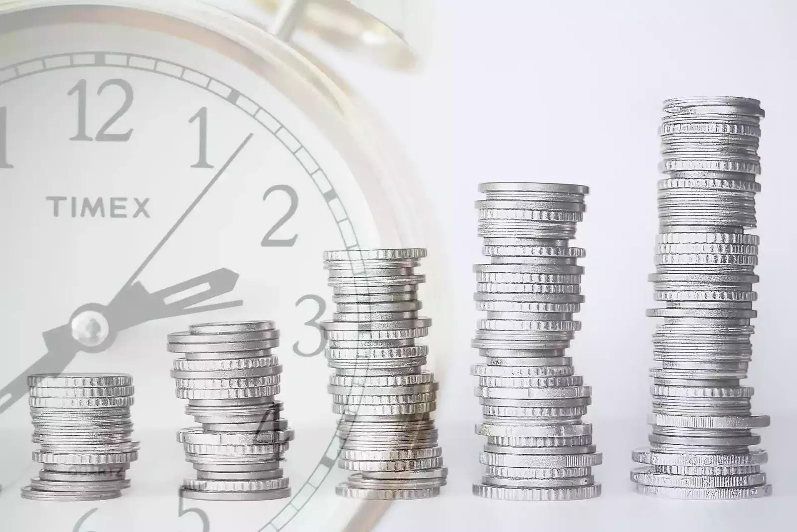 Money, coin , watch,