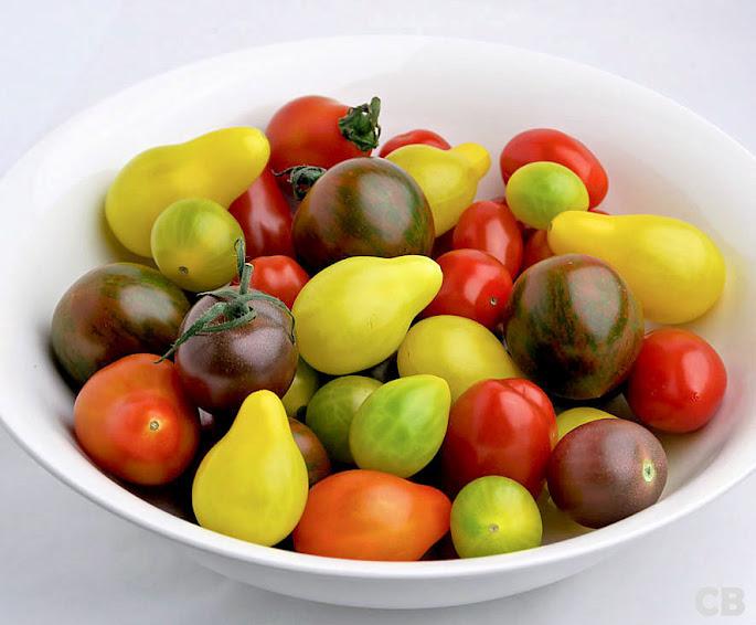 Verschillende soorten mini-tomaatjes