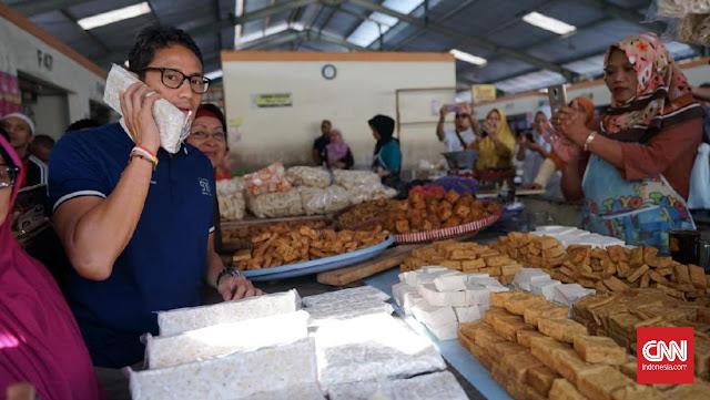 Harga Tempe Versi Jokowi Beda 180 Derajat dengan Temuan Sandi