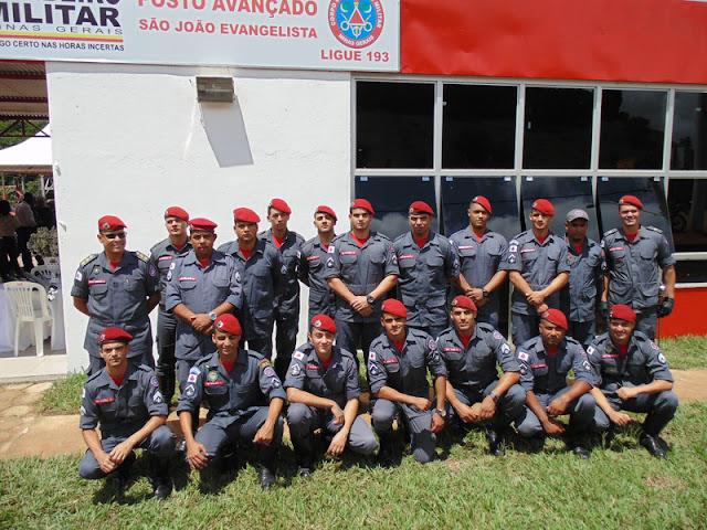Efetivo do posto de São João Evangelista || Divulgação/CBMMG
