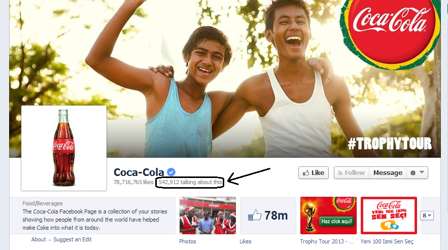 Coca-Cola - People Talking About It