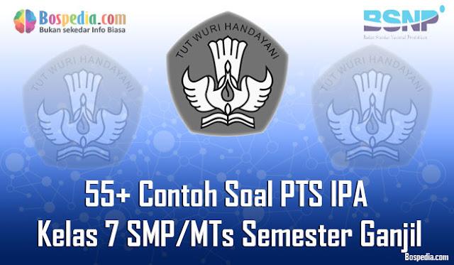 kali ini admin bospedia sudah menyiapkan Contoh Soal PTS IPA Kelas  Lengkap - 55+ Contoh Soal PTS IPA Kelas 7 SMP/MTs Semester Ganjil Terbaru