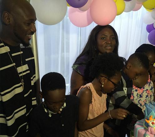 2face idibia children baby mama