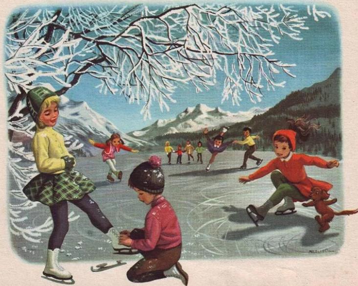 Советские открытки каток, открыток