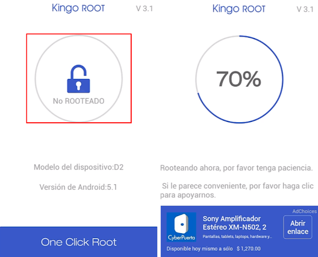 iniciar proceso de rooteo con kingo root
