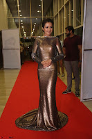 Actress Catherine Tresa in Golden Skin Tight Backless Gown at Gautam Nanda music launchi ~ Exclusive Celebrities Galleries 102.JPG