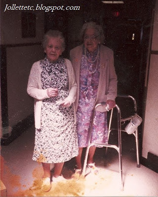 Lucille Rucker Davis and Elta Sullivan Farrar before 1990