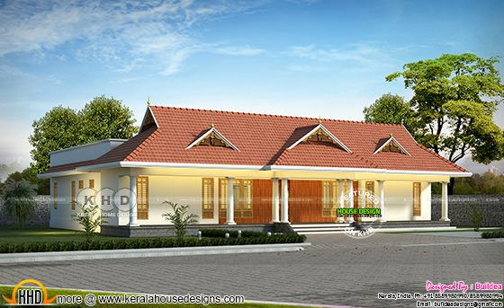 Kerala traditional 4 bedroom 2825 sq-ft home