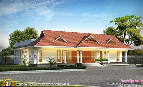 Kerala traditional 4 bedroom 2825 sq-ft home
