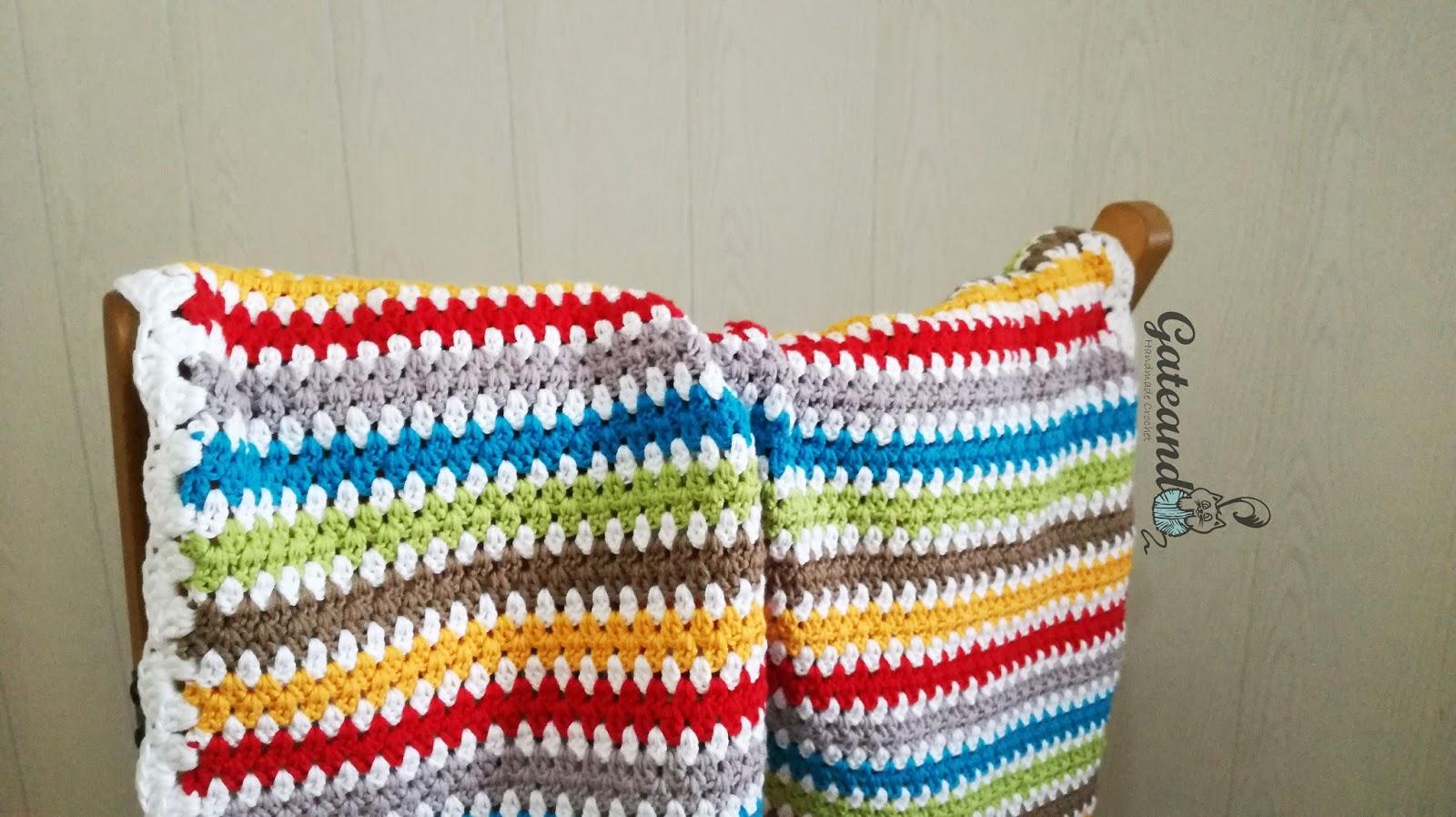Patrón manta crochet para bebé