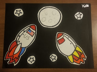 Space Race on the Virtual Refrigerator  - share your art posts on our Virtual Refrigerator - an art link-up hosted by Homeschool Coffee Break @ kympossibleblog.blogspot.com