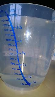 Meßbecher mit Wasser