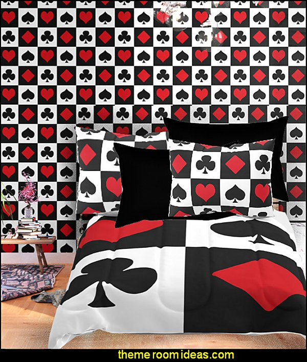 Playing card Wallpaper  casino vegas bedroom decor  Casino Theme Decorations - Las Vegas Casino Themed decorating ideas - casino themed bedroom decorating ideas - Casino Wall Decorations -   Las Vegas Themed Bedroom Decor -  Casino Party Supplies - vegas themed bedroom ideas -