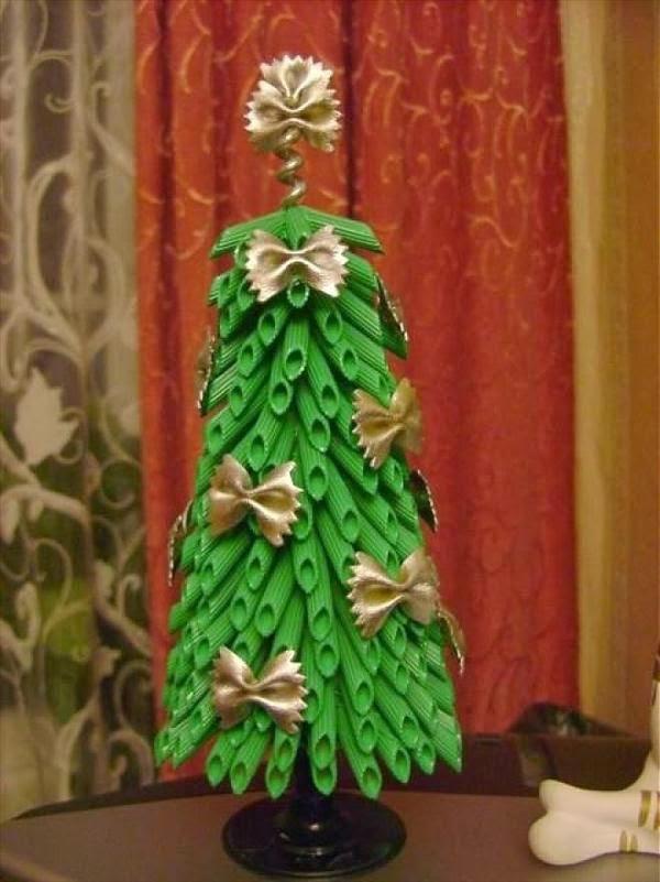 Recicla Inventa: Cómo hacer un árbol de navidad con pasta