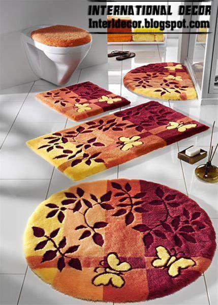 interior design 2014: 10 modern bathroom rug sets, baths rug sets