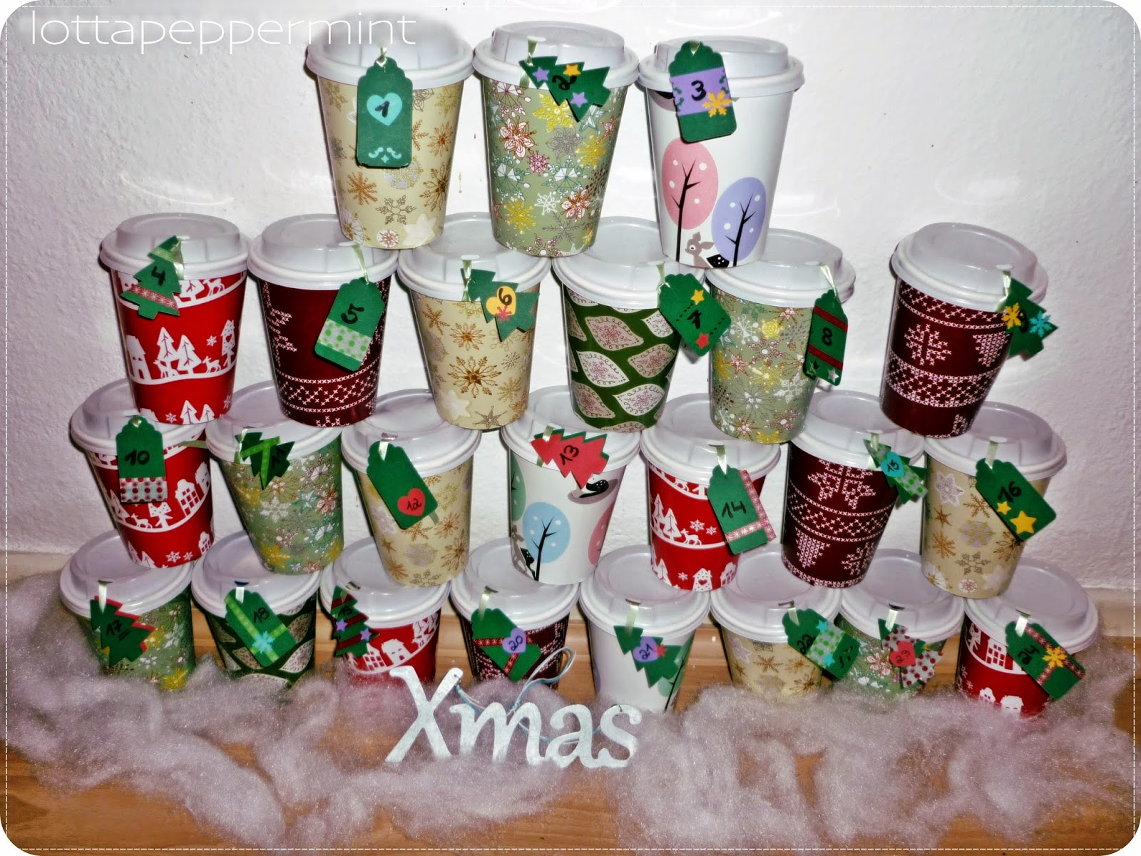 lottapeppermint diy adventskalender aus coffee to go bechern. Black Bedroom Furniture Sets. Home Design Ideas