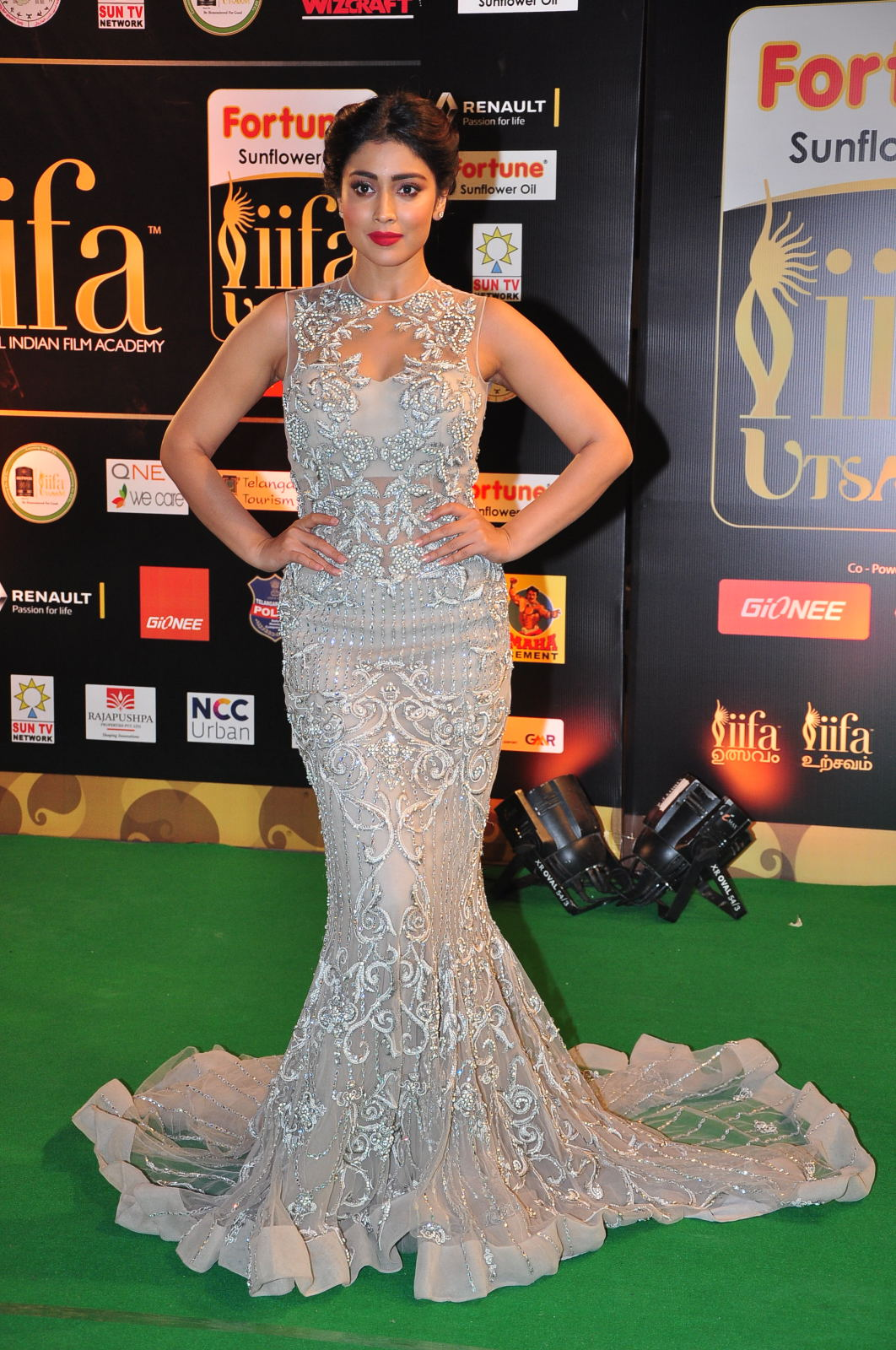 Shriya Saran Stills at IIFA Utsavam 2016 In White Dress
