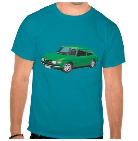 saab, saab99, t-shirts