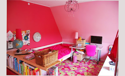 Bedroom Designs For Teenage Girls Games Themes Pink color Beautiful Pic 002