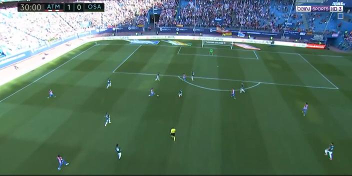 بالفيديو : اتليتكو مدريد يفوز على أوساسونا بثلاثية نظيفة السبت 15-04-2017 الدوري الاسباني