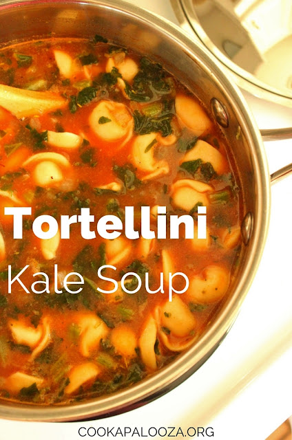 Tortellini Kale Soup with a Minestrone Style Broth
