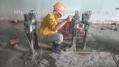 Khoan cắt bê tông tại quận Bình Tân