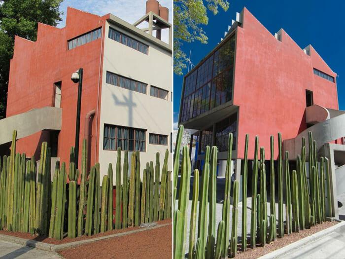 Particolare dell'esterno della casa di Frida Kahlo