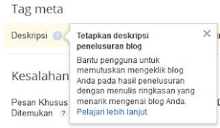 Bantuan dari Google tentang Deskripsi Penelusuran Blog